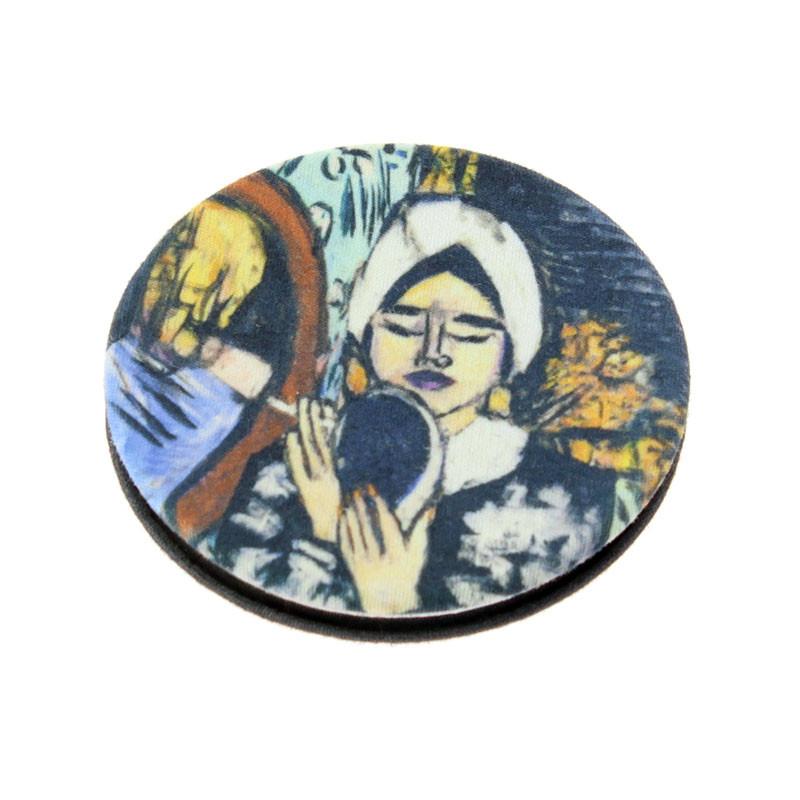 Espejo doble de bolsillo Beckmann: Mujer con espejo