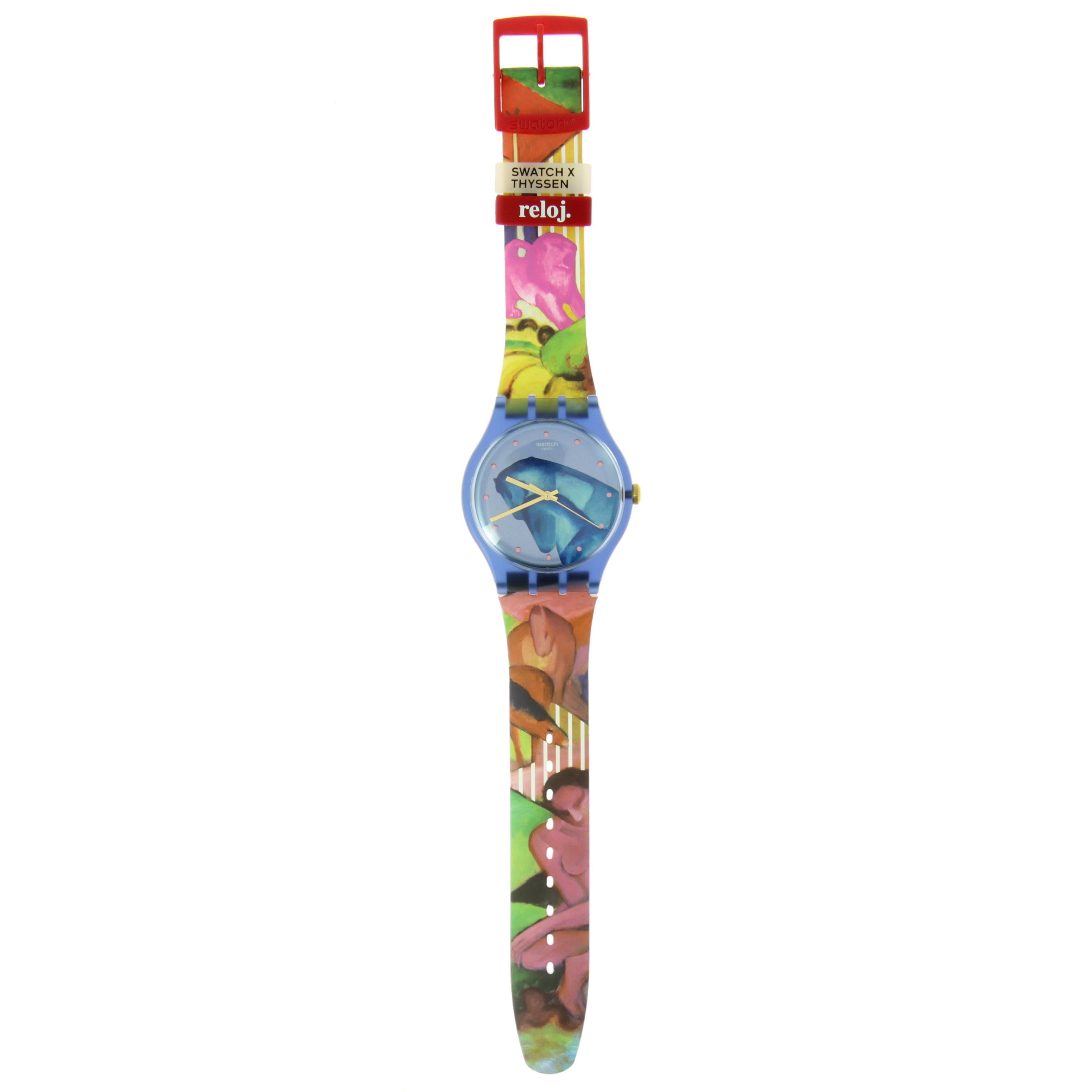 Reloj Swatch+Thyssen Franz Marc Sleepy Garden