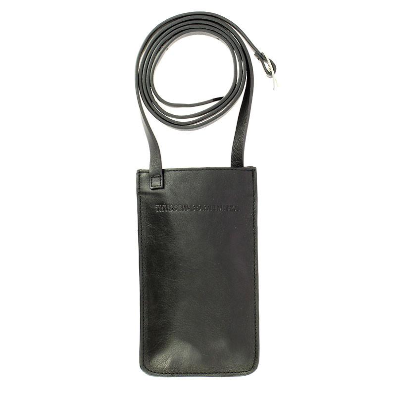 Portamóvil de piel negro