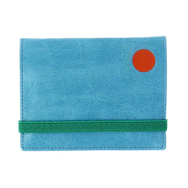 Cartera-monedero azul Schwitters