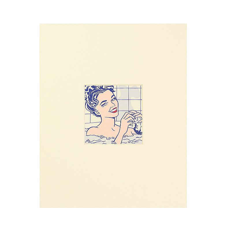 Postal passe partout Mujer en el Baño