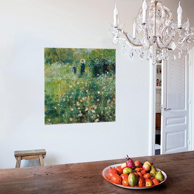 """Decoración mural IXXI 100 X 100 cm Renoir """"Mujer con sombrilla"""""""