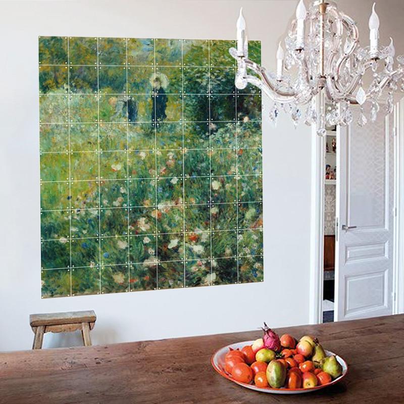 """Decoración mural IXXI 180 X 160 cm Renoir """"Mujer con sombrilla"""""""