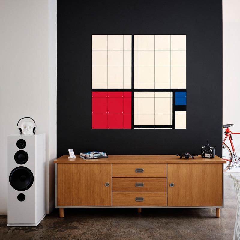 Decoración mural IXXI 120 X 120 Composición de colores Piet Mondrian