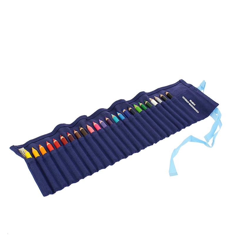 Estuche azul 24 lápices de color