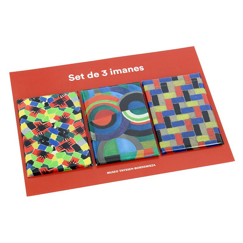 Set 3 imanes Sonia Delaunay