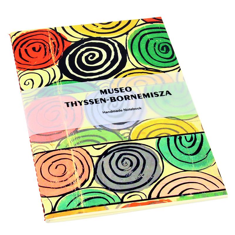 Libreta Sonia Delaunay Diseño para seda encuadernación cosido con hilo