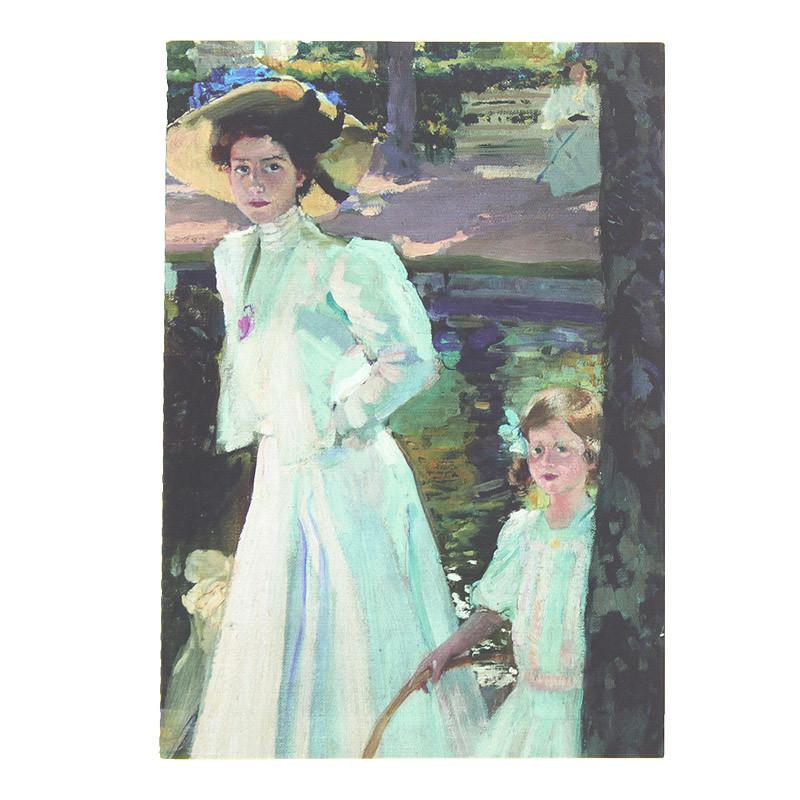 Libreta Sorolla María en los jardines de La Granja