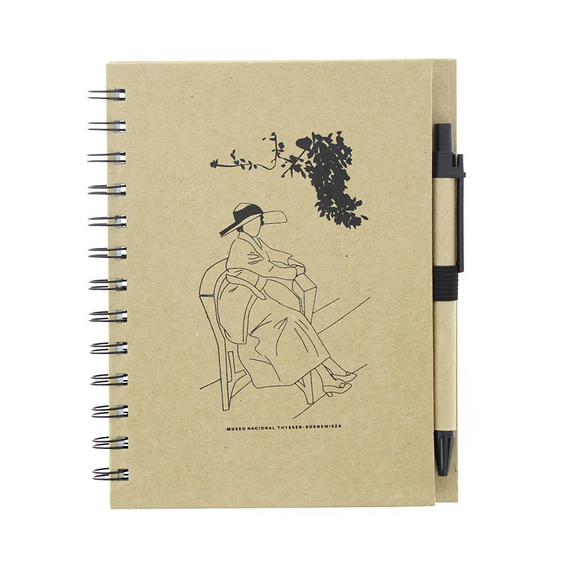 Cuaderno con bolígrafo Sorolla Clotilde en el jardín