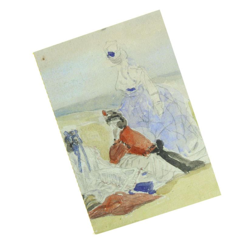 Libreta cosida Miriñaques en la playa