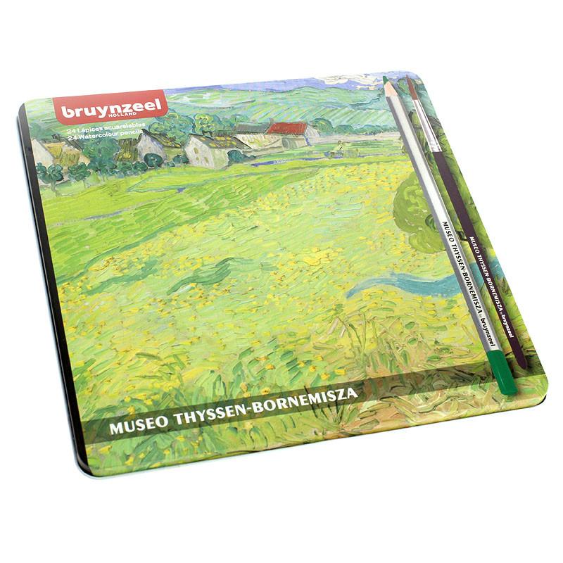 Caja de 24 lápices de colores acuarelables Van Gogh de Bruynzeel