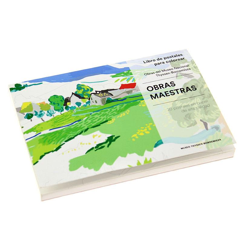 20 Postales para colorear: Obras maestras