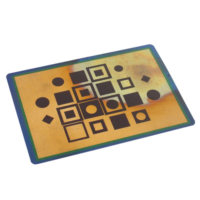 Postal cobre Composición Vasarely