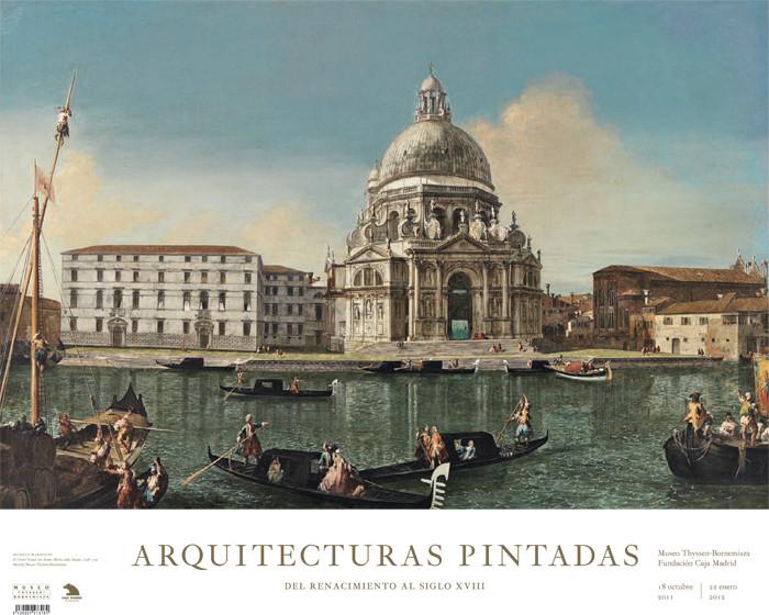 Póster Michele Marieschi Exposición Arquitecturas Pintadas: El Gran Canal con Santa Maria della Salute