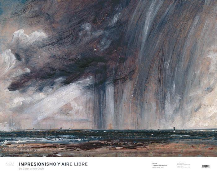 Póster Tormenta de lluvia sobre el mar. John Constable