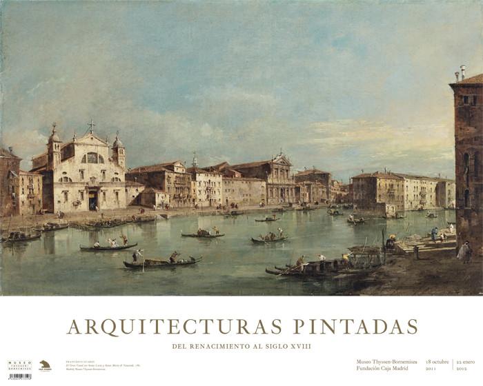 Póster Francesco Guardi Exposición Arquitecturas Pintadas: El Gran Canal con Santa Lucia y Santa Maria de Nazareth