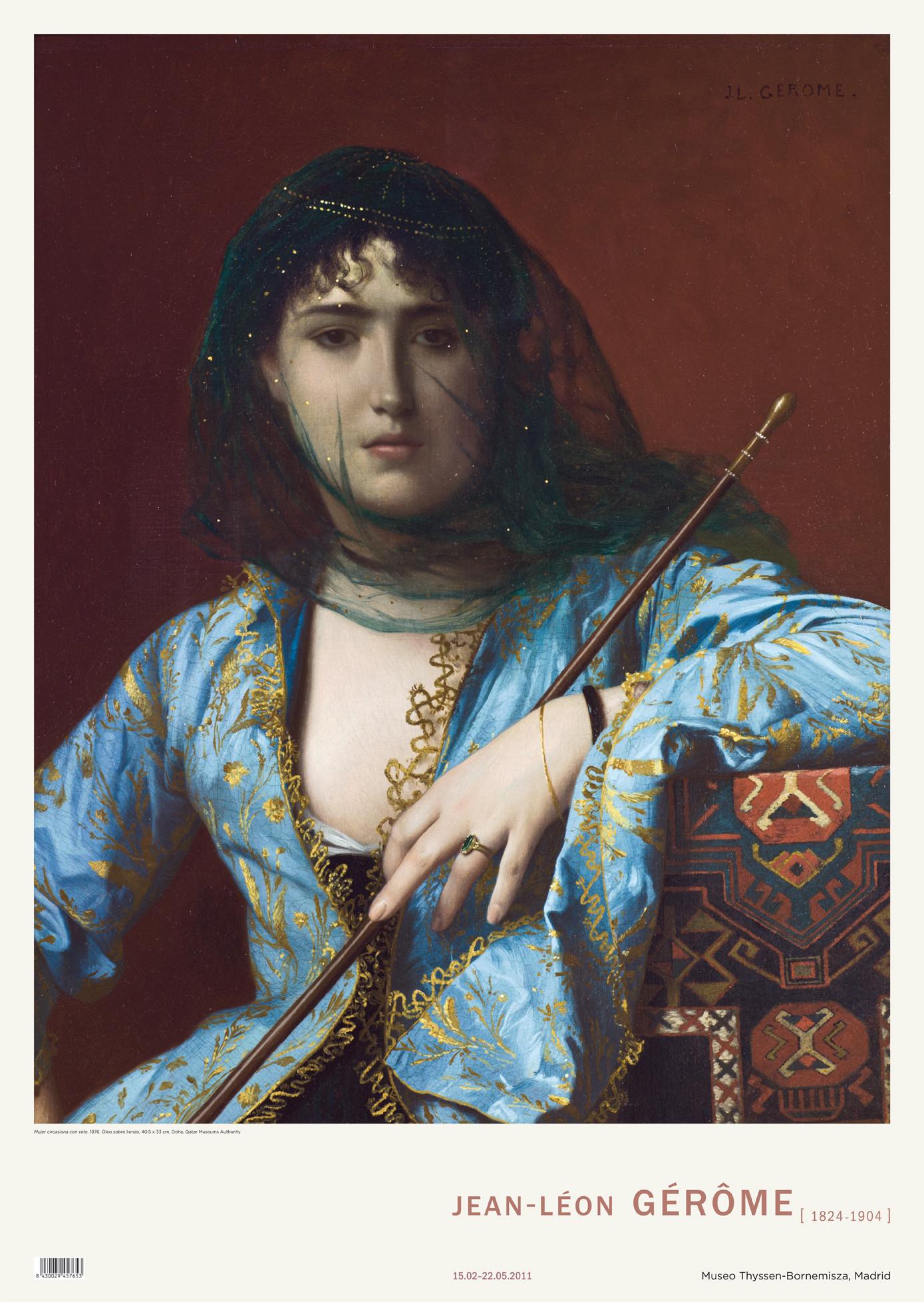 Póster Jean-Léon Gérôme: Mujer circasiana con velo