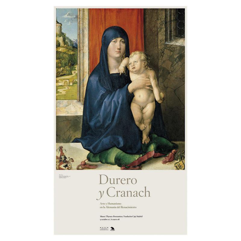 Póster Virgen con el Niño (Madonna Haller) de Alberto Durero