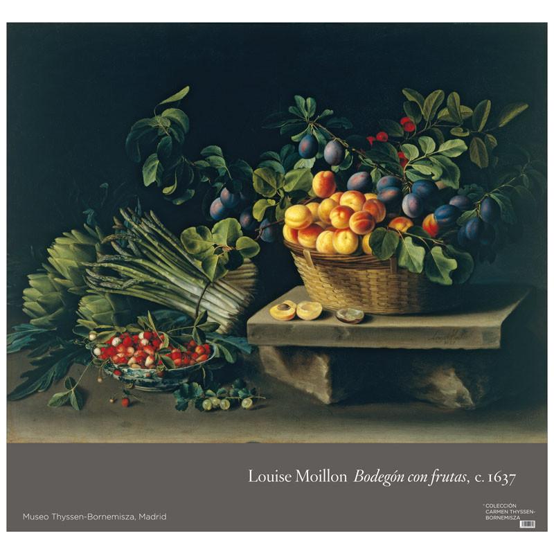 Póster Louisse Moillon: Bodegón con frutas y verduras