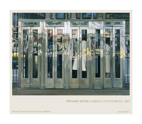 Póster Richard Estes. Cabinas telefónicas, 1967