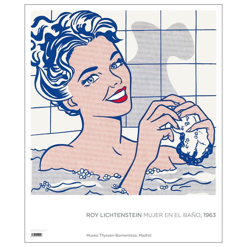 Póster Roy Lichtenstein: Mujer en el baño
