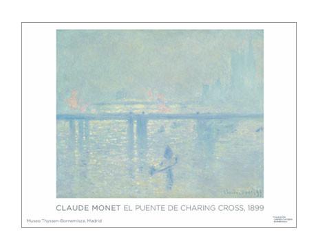 Póster Claude Monet: El puente de Charing Cross