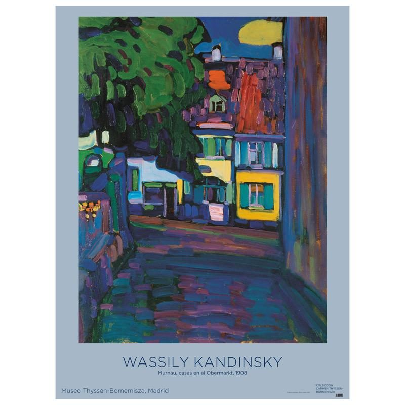 Póster Kandinsky: Murnau, Casas en el Obermarkt
