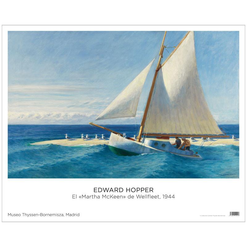 Póster Edward Hopper: El Martha Mckeen de Wellfleet