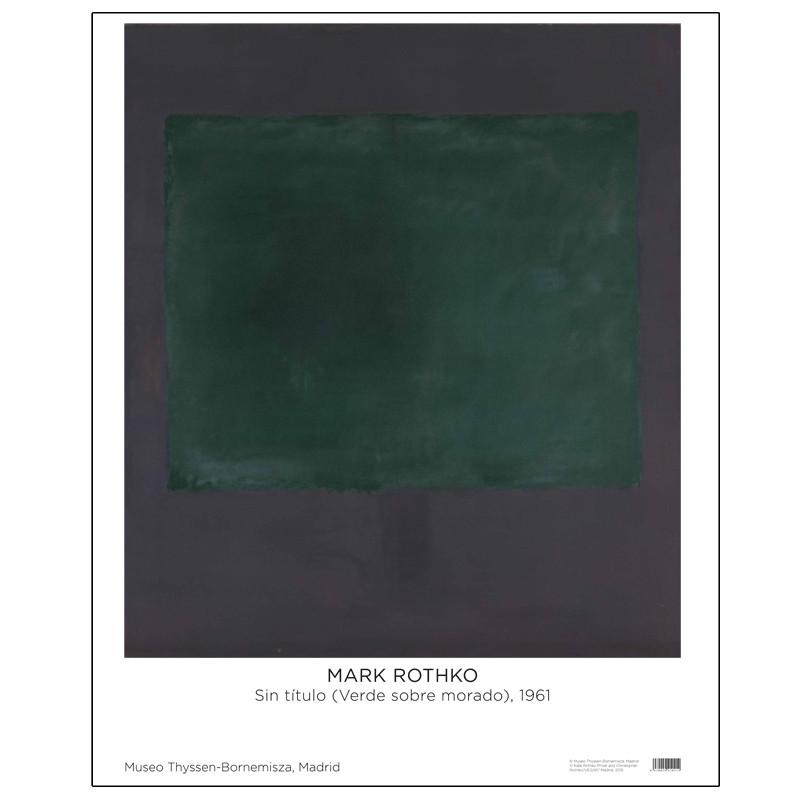 Póster Rothko: Sin titulo (Verde sobre Morado)