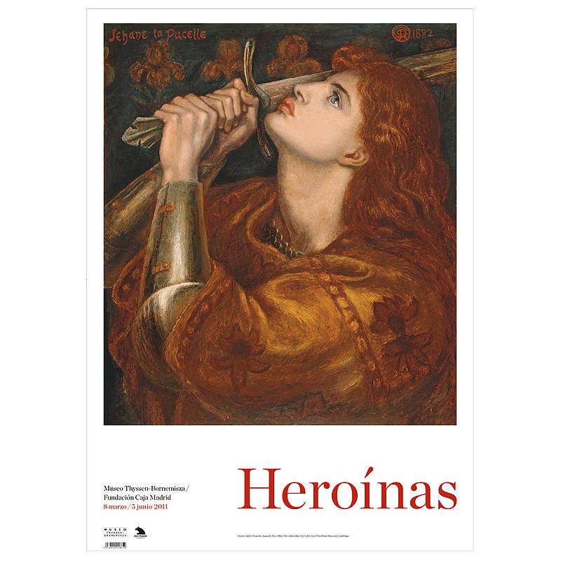 """Poster exposición """"Heroinas"""": Juana de Arco"""