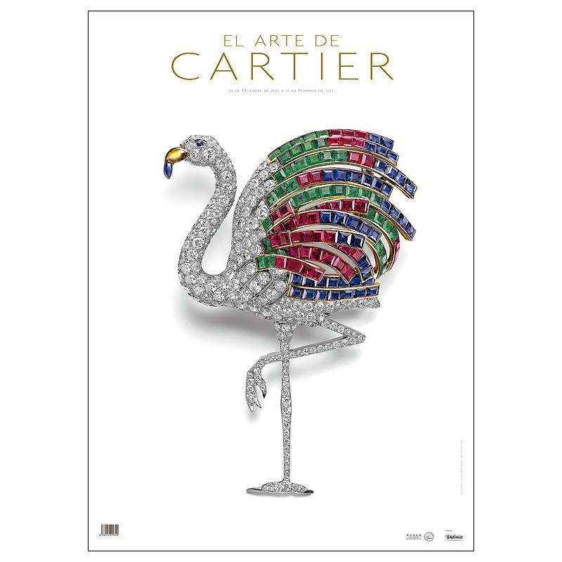 """Poster exposición """"El arte de Cartier"""""""