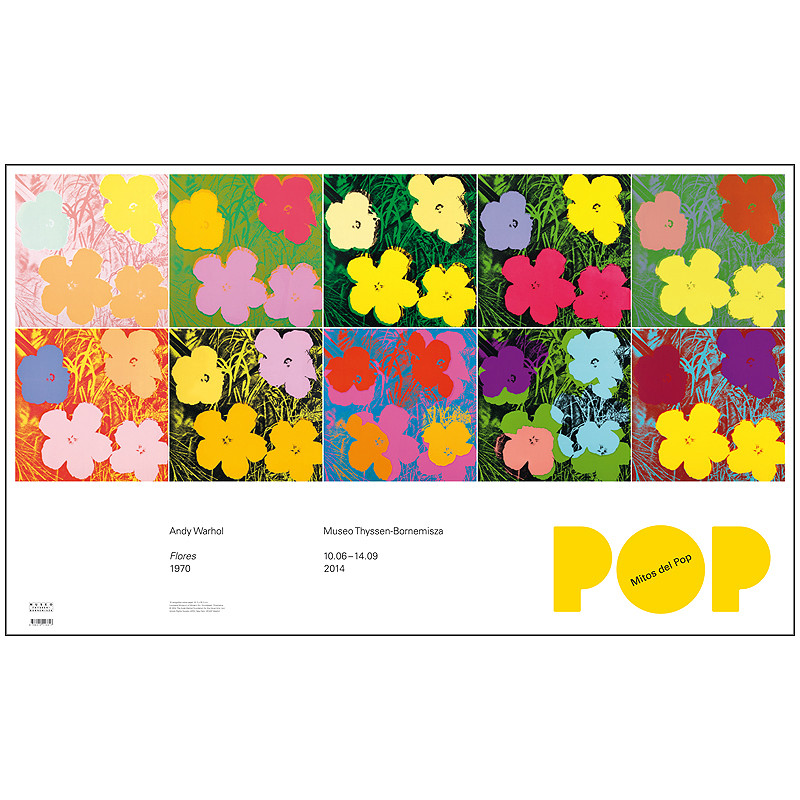 """Póster Warhol """"Mitos del Pop"""""""