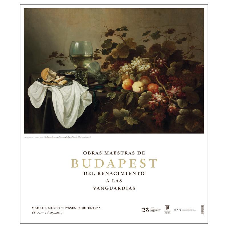 Poster Claesz y Koets Bodegón con frutas
