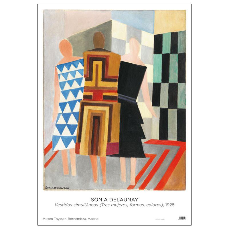 Poster Sonia Delaunay: Vestidos Simultáneos