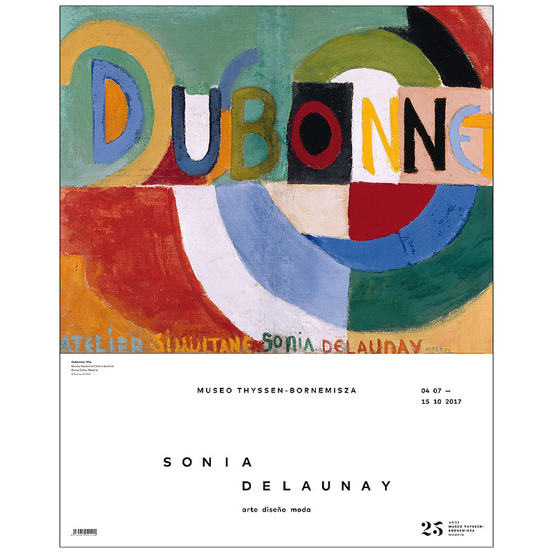Poster exposición Sonia Delaunay. Arte, diseño y moda: Dubonnet