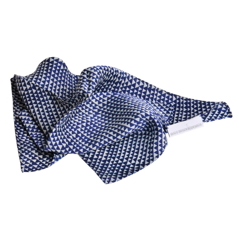 Pañuelo de seda Delaunay azul y blanco