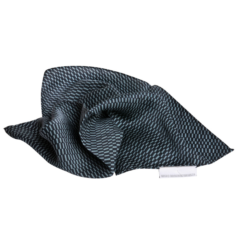 Pañuelo de seda Delaunay verde y negro