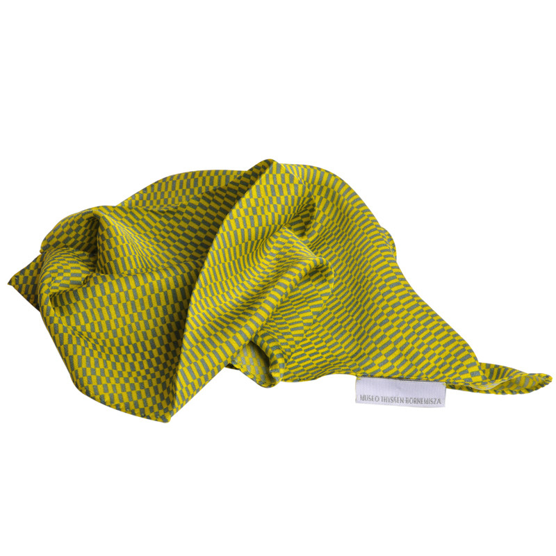 Pañuelo de seda Delaunay amarillo y gris