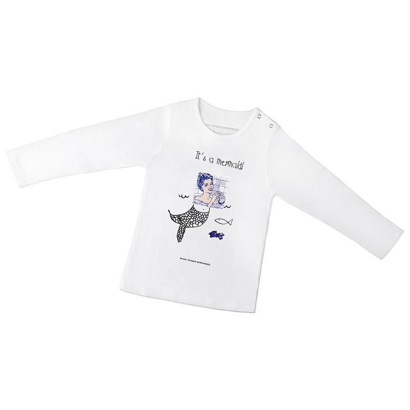 Camiseta infantil Mujer en el baño-Sirena
