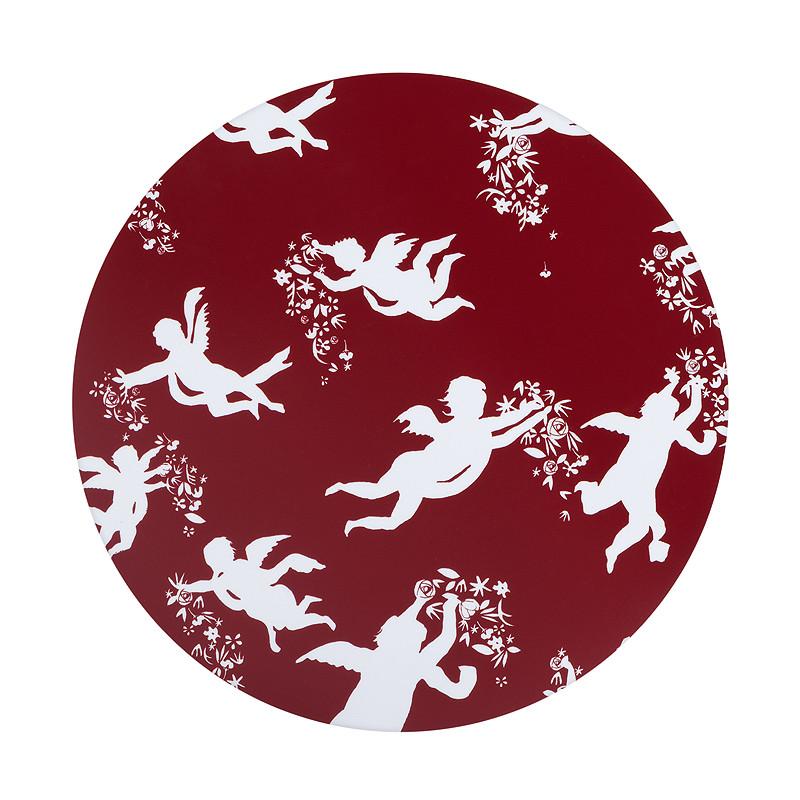 Mantel individual rojo ángeles de Zurbarán