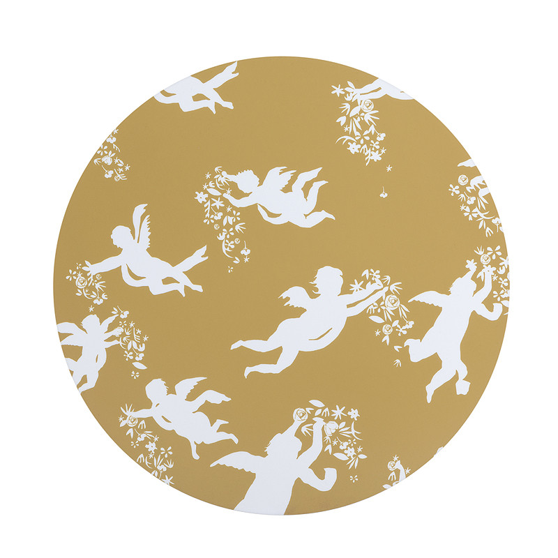 Mantel individual amarillo ángeles de Zurbarán