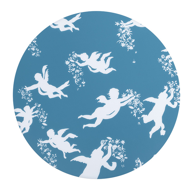 Mantel individual azul ángeles de Zurbarán