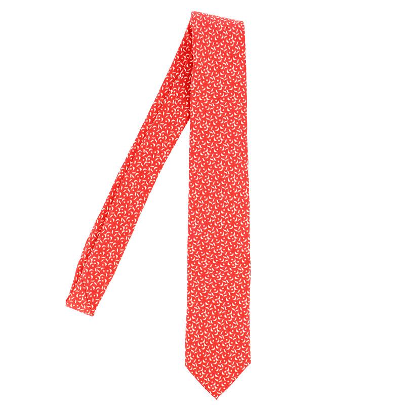 Corbata de seda roja 25 aniversario