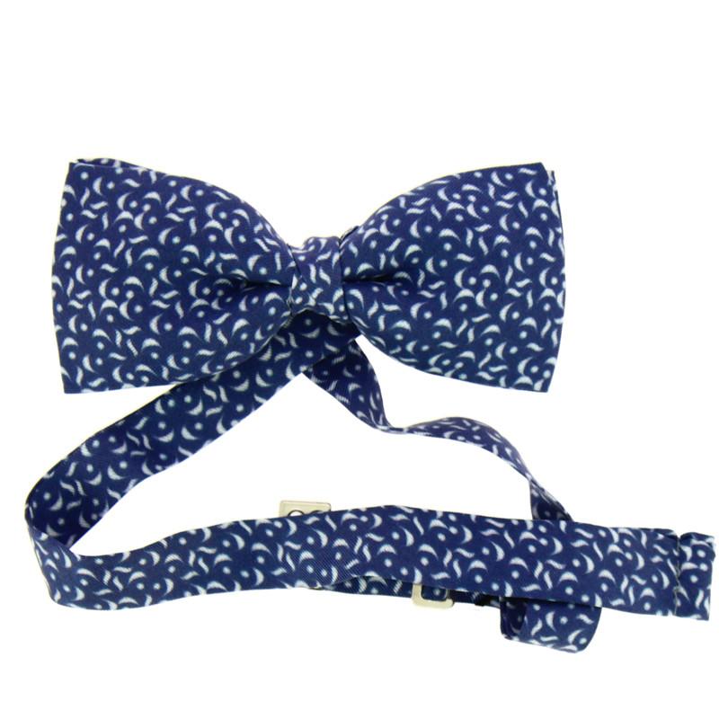 Pajarita de seda azul 25 aniversario
