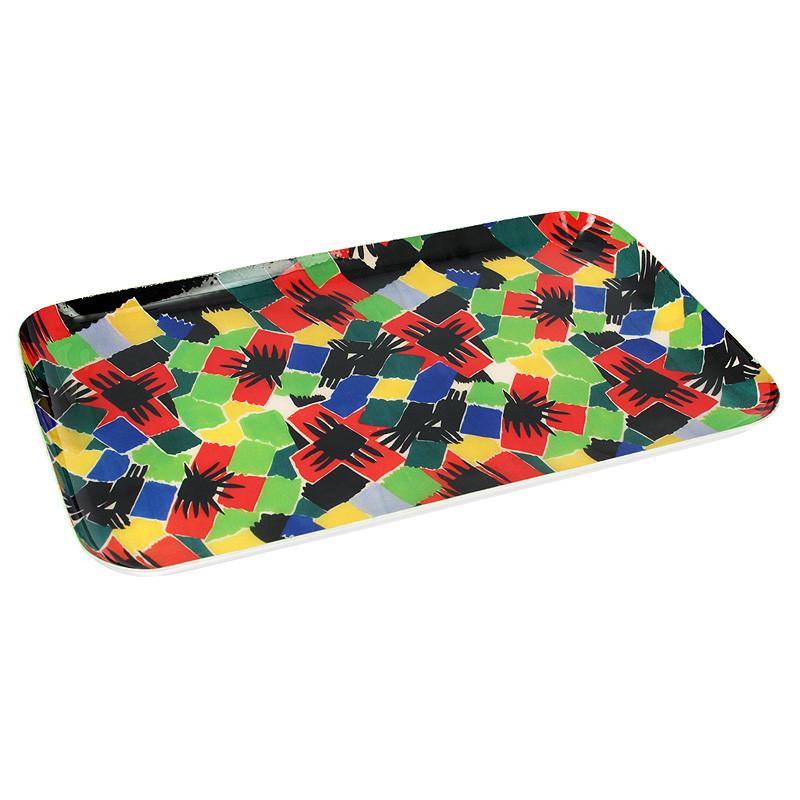 "Bandeja rectangular Sonia Delaunay ""Diseño 903"""
