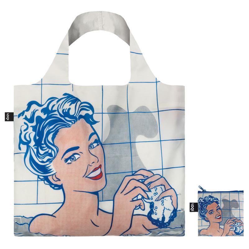 Bolsa plegable Mujer en el Baño