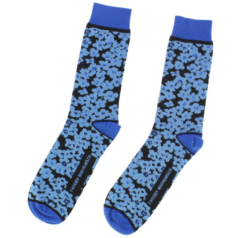 Calcetines flores azules. Balenciaga