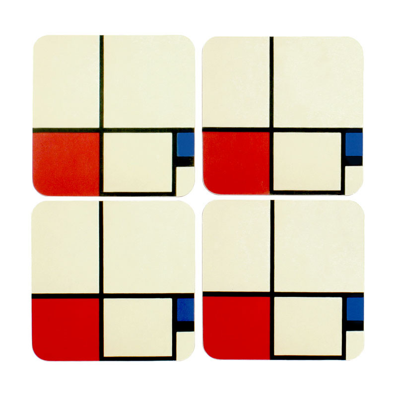 Set 4 posavasos Mondrian