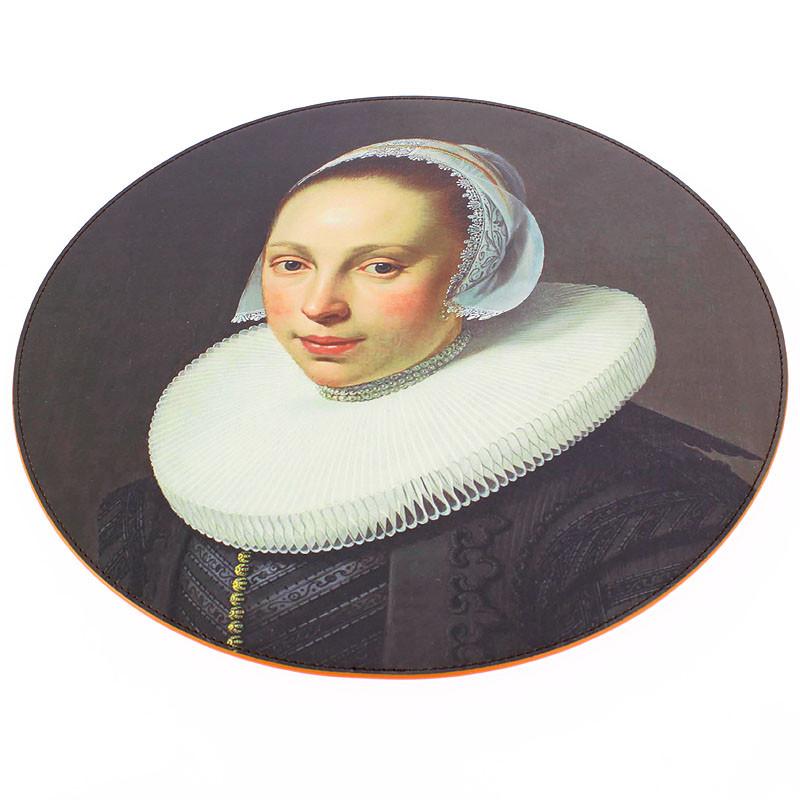 Mantel individual redondo Nicolaes Eliaz retrato de una mujer