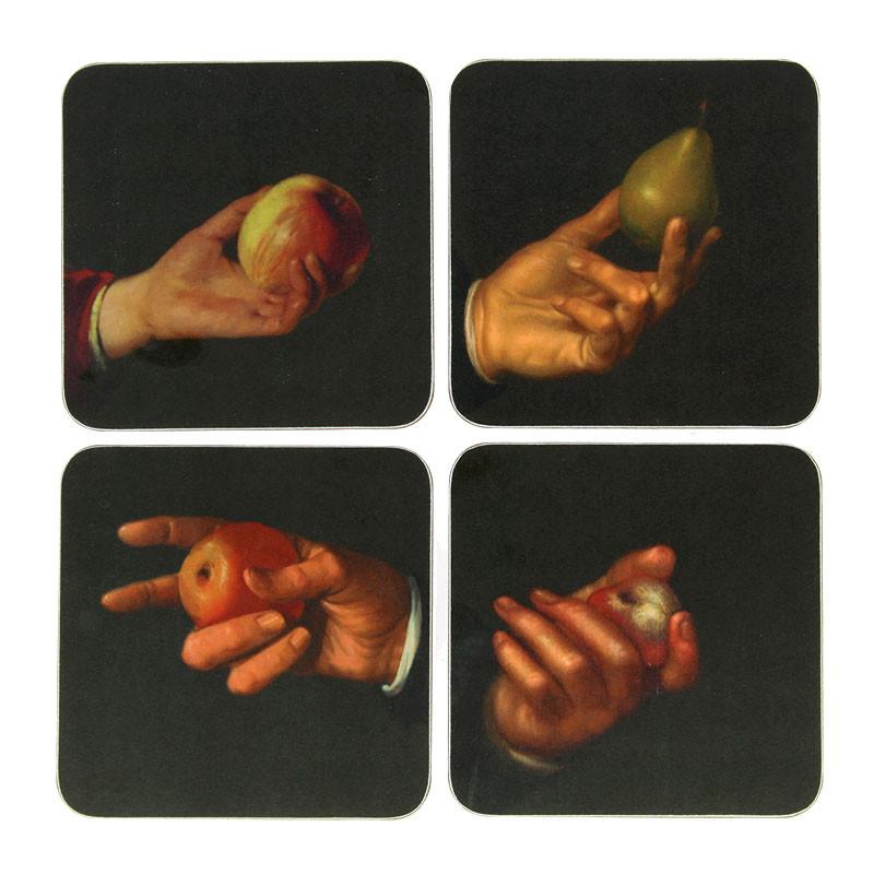 Set 4 posavasos manos Rembrandt